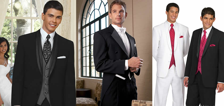 """Go to www.jimsformalwear.com to the Tux Builder to design your look. Bring your ideas and style #'s in for a quote."""